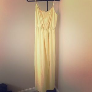 Guess Yellow Maxi Dress